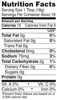 Hot Dog Chili Sauce Nutrition Guide/Facts