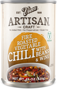Fire Roasted Vegetable Chili With Beans & Marsala Wine